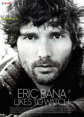 Eric Bana en la revista Elle