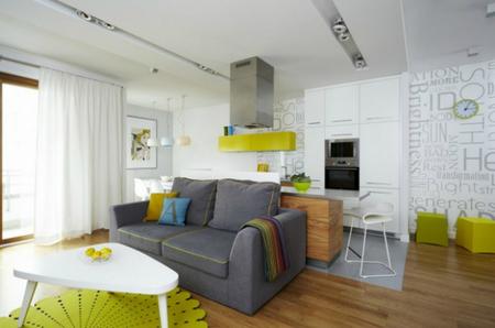 Cocina del apartamento en Varsovia