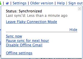 Gmail Offline en Flaky Mode