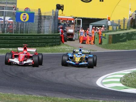 Alonso Schumacher Imola F1 2006