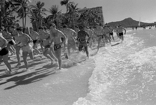 Jogging en Waikiki