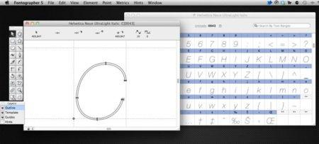 Fontographer 5, editor tipografías