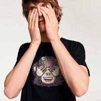 La fiebre emoji llega a todo glam con camisetas de lentejuelas a Zara