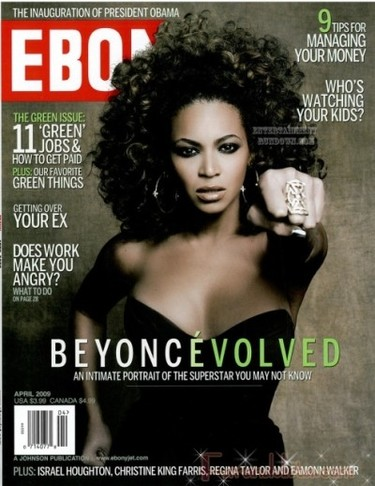 Beyonce para Ebony Magazine