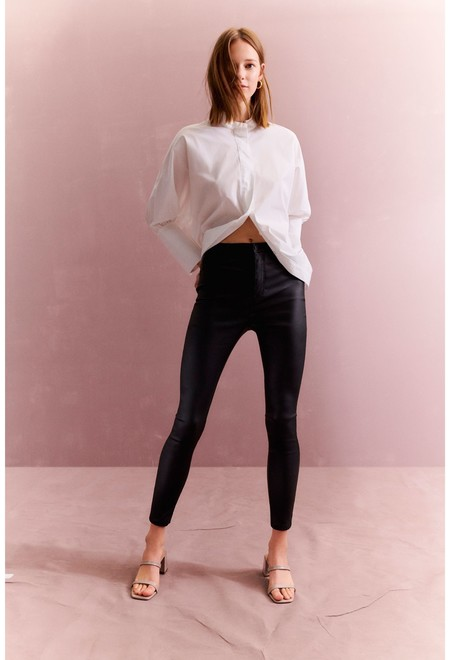 Black Coated Skinny Jean Wk 1 Eur15 Gbp13 17 Eur17 Ne Recycled Polyester