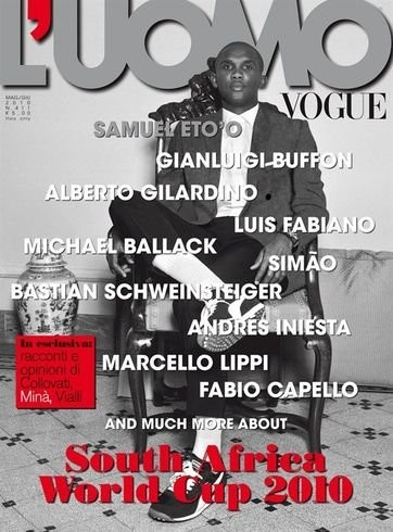 Samuel Eto'o portada de L' Uomo Vogue
