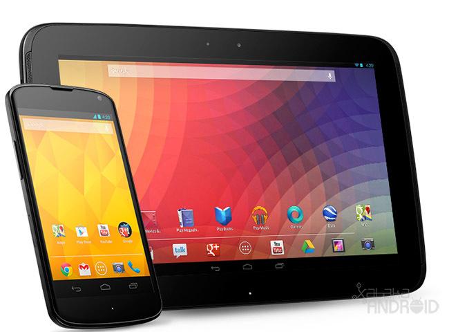 Google Nexus 4 y 10