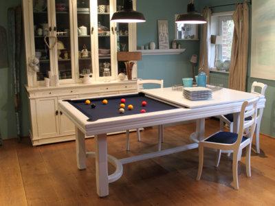 Billares que también son mesas, ideales para casas con poco espacio