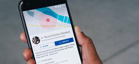 Dile tu tipo de sangre a Facebook y conviértete en un donante geolocalizado