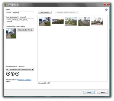 Seleccionando imagenes para la composicion