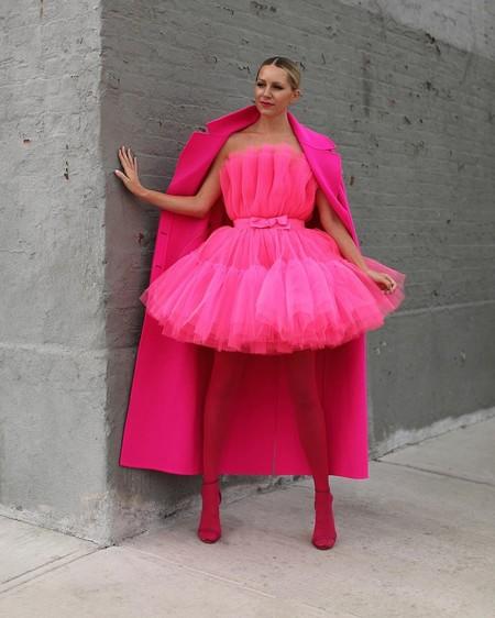Combinar Vestido Rosa Zapato Bolso 07
