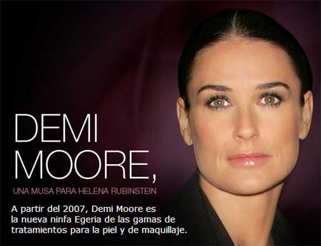 Demi Moore musa de Helena Rubinstein