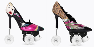 Probablemente, el zapato más peligroso del mundo: los stilettos de Saint Laurent convertidos en patines