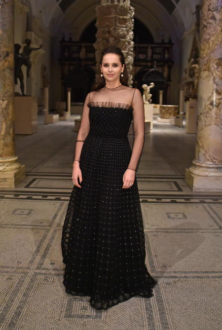 Felicity Jones At The Christian Dior Exhibition In London