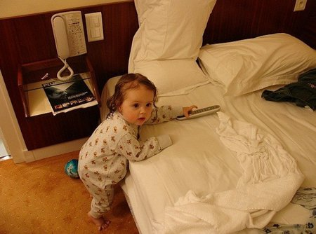 Bebé en el hotel