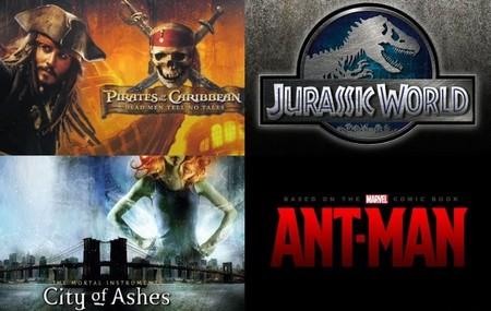 Novedades sobre los estrenos de 'Piratas del Caribe 5', 'Parque Jurásico 4', 'Cazadores de sombras 2' y 'Ant-Man'