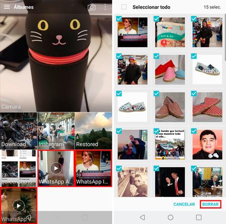 Whatsapp Memoria Llena borrar fotos y vídeos