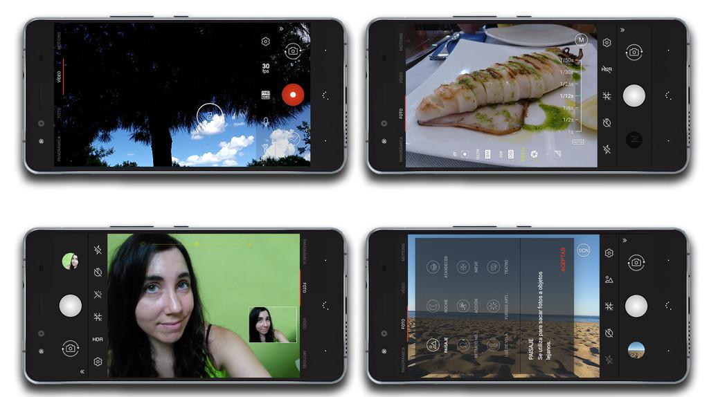 BQ Aquaris X: app de cámara