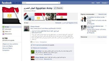 El ejército de Egipto abre una página en Facebook para dialogar con el pueblo