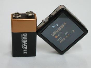Minireproductor MP3, pantalla color, tamaño de una pila