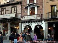 Comer en Segovia. Mesón de Cándido