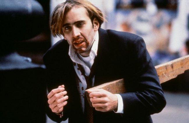 Imagen de Nicolas Cage dando bastante asco