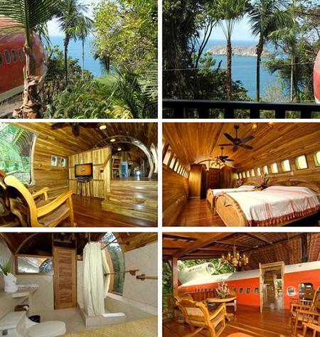 Costa Rica: suite construida en un Boeing 727