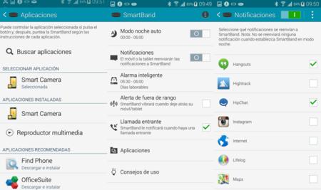 configuracion y notificaciones smartband