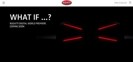 Bugatti tiene un nuevo superdeportivo a punto de salir del horno y ya muestra una enigmática primera imagen