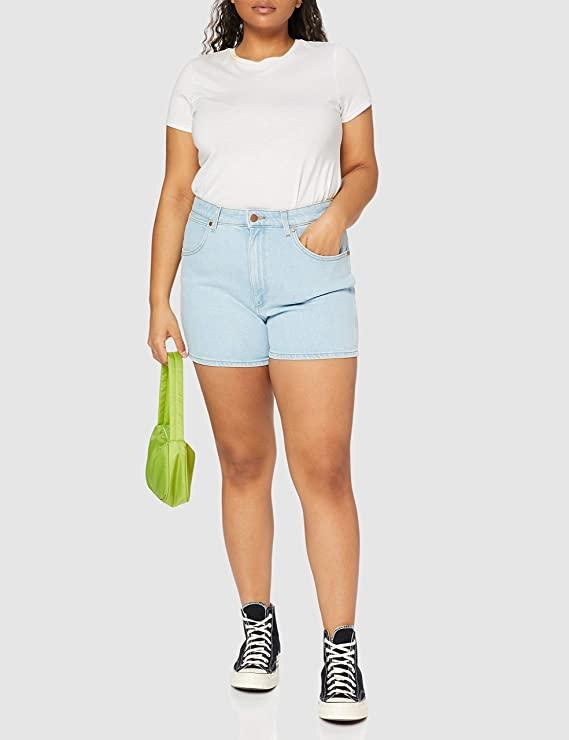 Wrangler Mom Short Pantalones Vaqueros para Mujer