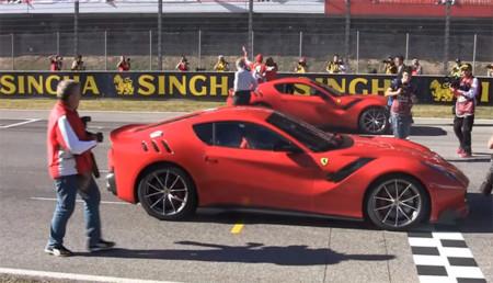 Así se estrenó el Ferrari F12tdf en Mugello (vídeo)