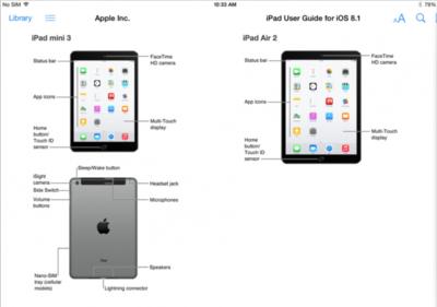 """¡Ups! el """"iPad Mini 3"""" y el """"iPad Air 2"""" aparecen en la guía de usuario de iOS 8.1"""