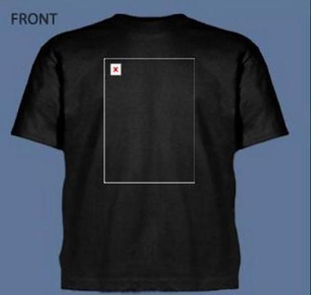 Camiseta de imagen rota