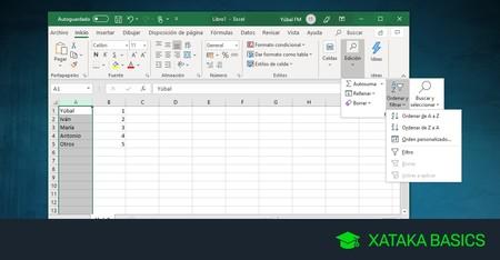 Cómo ordenar alfabéticamente celdas en Excel