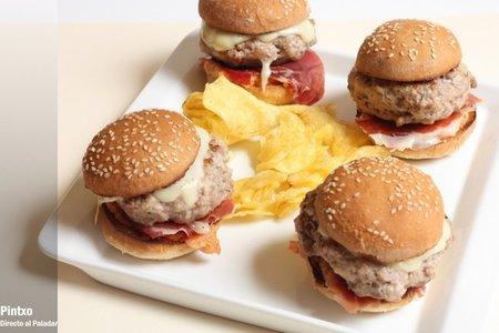 Mini hamburguesas ibéricas. Receta