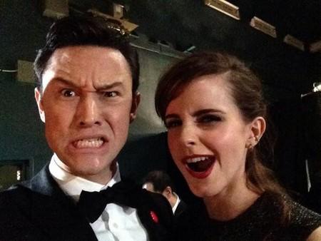 Joseph Gordon-Levitt y Emma Watson en los Oscar