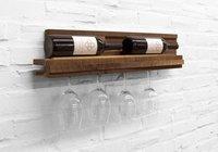 Botellero estantería con espacio para las copas