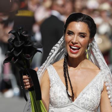 Pilar Rubio nos enseña su segundo look de novia y es de color rojo