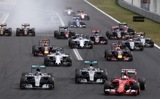 Salida Mercedes Gp Hungria F1 2015