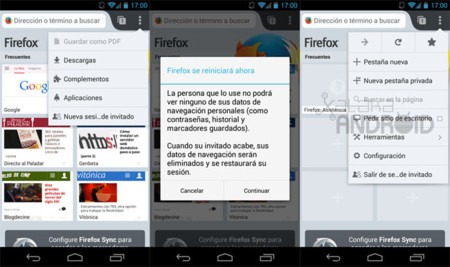 Firefox 25 para Android