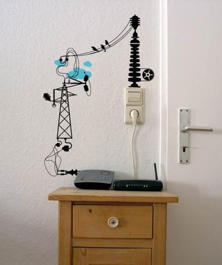 Vinilos para disimular los cables