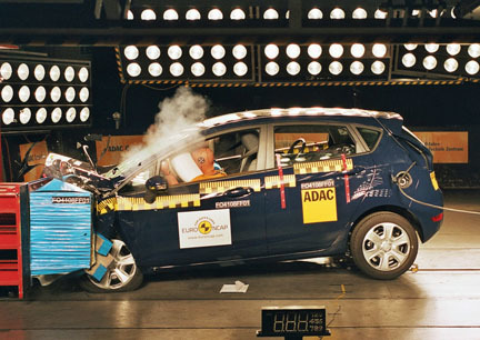 Ford Fiesta - EuroNCAP frontal