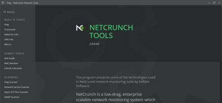 Ping, auditorías de DNS, WhoIs... con NetCrunch Tools lo tienes todo para escanear una red
