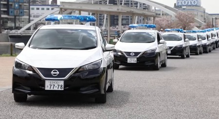 Nissan Leaf Police Cars Japan
