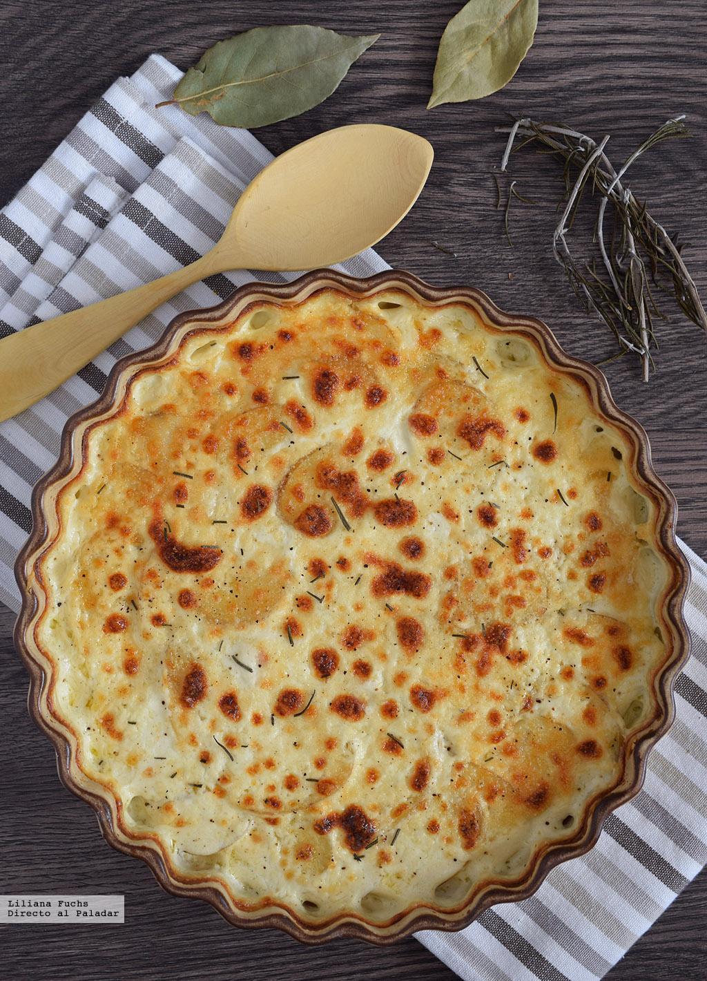 Gratinado de patatas con provolone al romero y laurel - Gratinado de patata ...