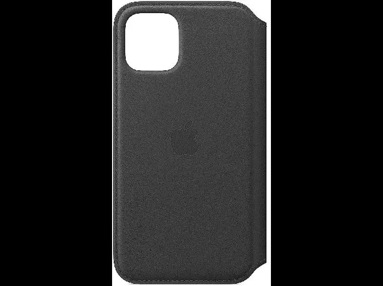 Apple Leather Folio, Funda para el iPhone 11 Pro, Piel, Con tapa y tacto suave, Negro