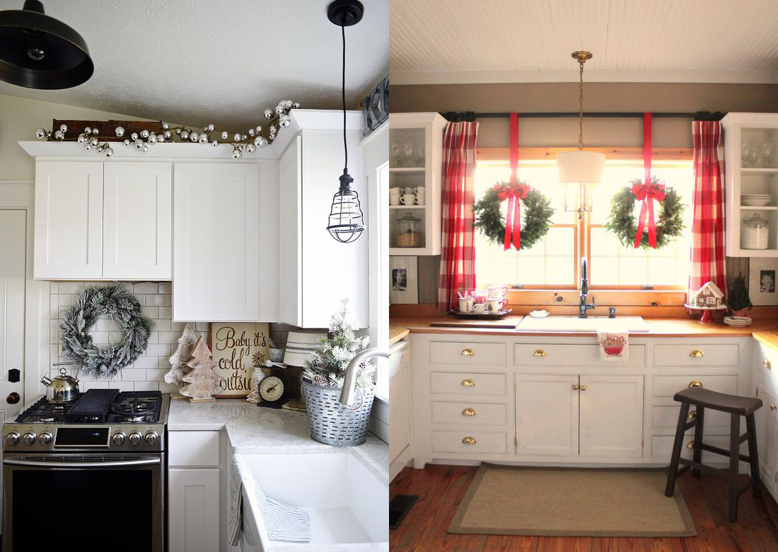ideas decorativas para darle a tu cocina un espritu navideo