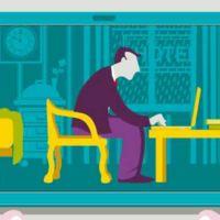 Cuida tu postura al trabajar con dispositivos móviles