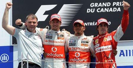 El Gran Premio de Canadá tuvo el primer podio de lleno de campeones en casi 20 años