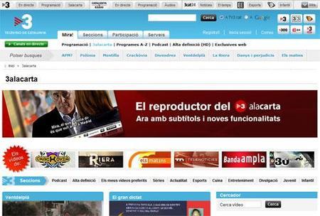 TV3 ya experimenta con la fusión de televisión e Internet